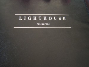 lighthouse restaurant menu cover