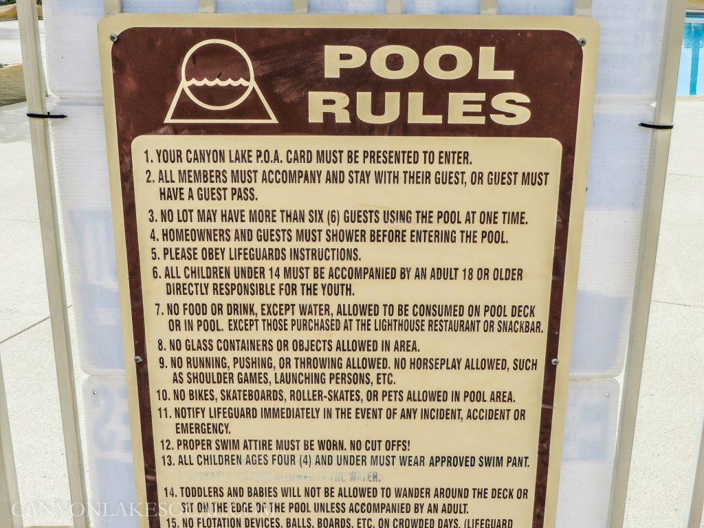 Swimming pool to open for the season canyon lake california - Swimming pool regulations in texas ...