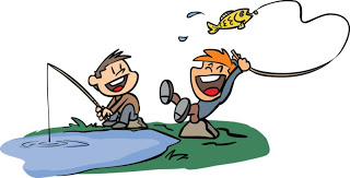 Kids Fishing Cartoon Canyon Lake California