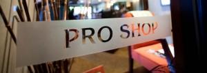 Proshop sign