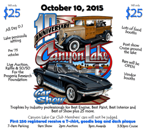 Canyon Lake Car Show Poster Canyon Lake Events